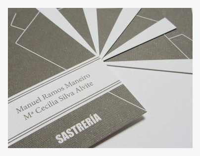 Visiting card for a tailor