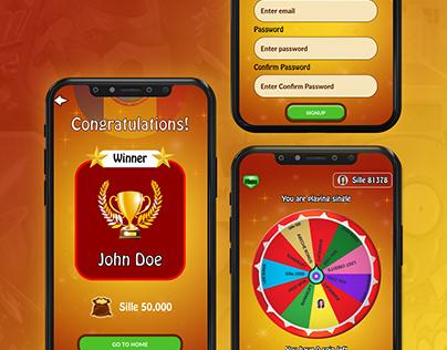 Spinning Wheel Mobile App Design