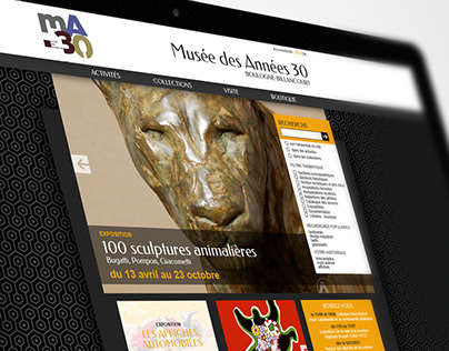 Musée Des Années 30 /// Webdesign