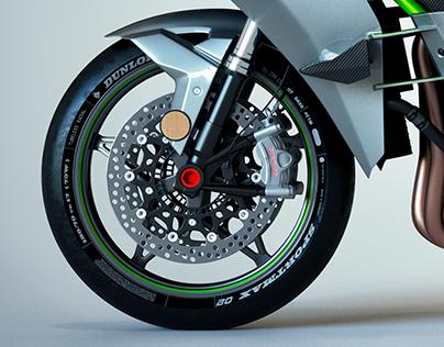 Kawasaki H2R Full CGI