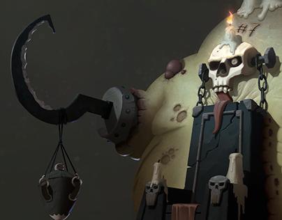 Demilich Throne — character design