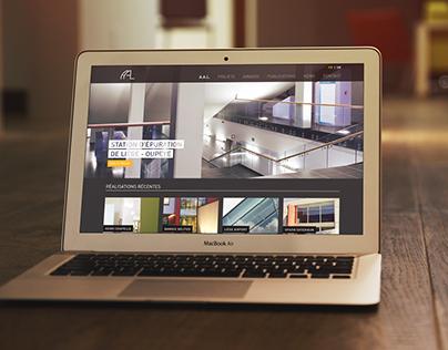 Projet de site web pour l'atelier d'architecture AAL