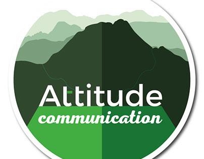 Altitude Communication logo design