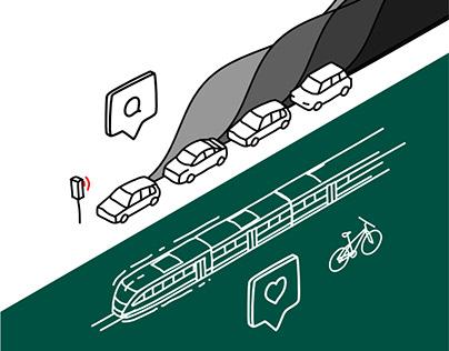 Sétáló Budapest | Vector illustrations