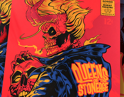 Queens of the Stoneage Gig Poster