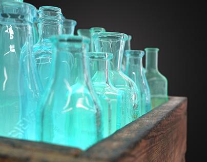 Glassket floor lamp by AfterGlow Design 3D model