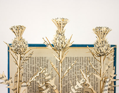 Thistle Award: Outlander Book Sculpture