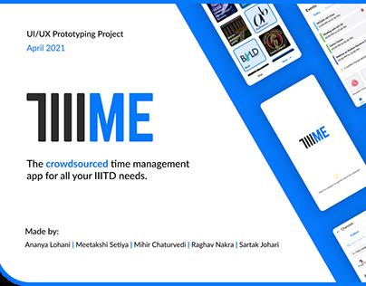TIIIME: Crowdsourced Planner - UI/UX