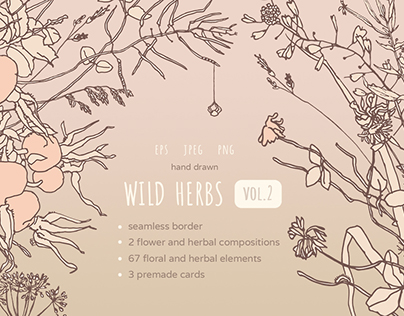 Wild Herbs vol.2 Graphic set
