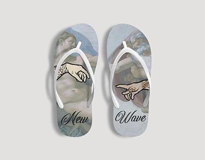 Flip-flops. Fashion.