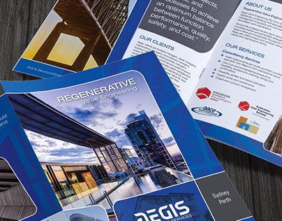 AEGIS - Business Card and Brochure Design