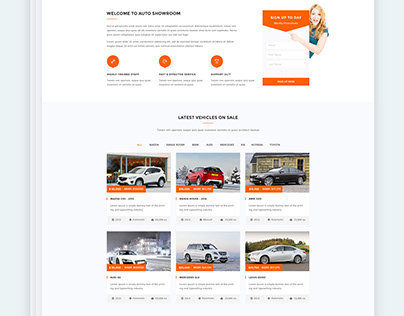 Auto Showroom - Car Dealership Template
