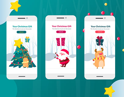 Christmas Landing Page Gifts Concept