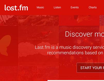 Last.fm Redesign Concept