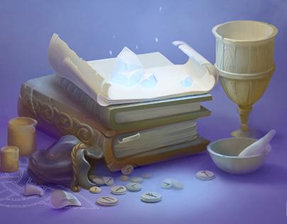 Northern magic illustration