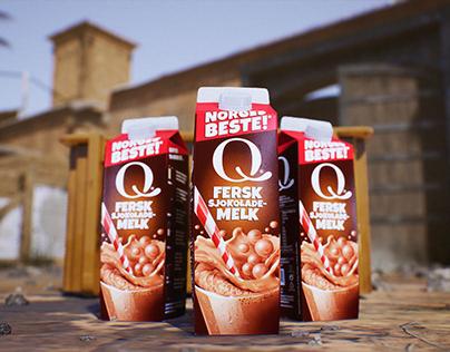 Q Fersk Sjokolademelk Sponsor Ad