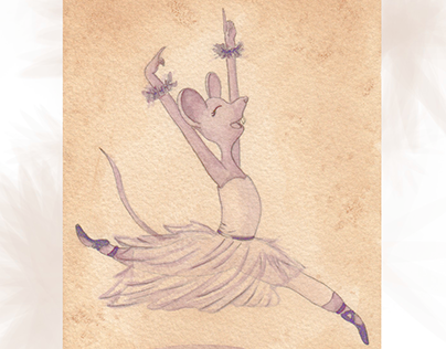 Cute Critter Ballet Dancers - Watercolor Illustrations