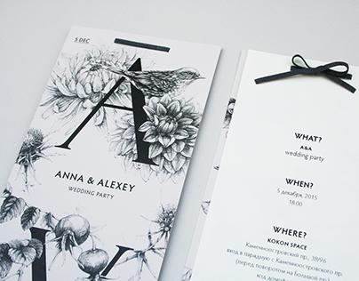 Wedding invitation and book