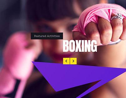 Sport WordPress Theme - Boxing Slider Square