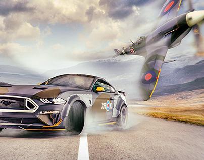 Vaughn Gittin Jr Spitfire inspired Mustang