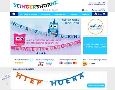 Slingershop.nl | redesign Webshop