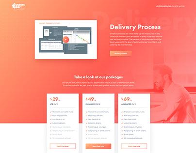 Sales Funnel Landing page web design