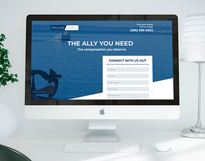 Landing page design and development for law company