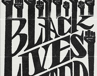 BLACK LIVES MATTER PROTEST POSTER. FREE DOWNLOAD