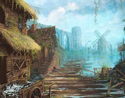 Swamp Reach - Illustration for RPG Heroes Tears