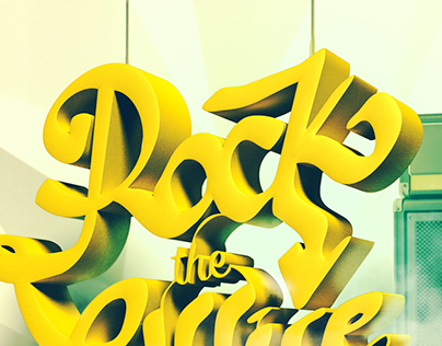 Rock the Office * Type poster