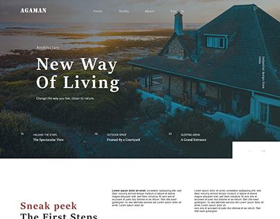Real Estate Architect Website mockup