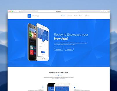 Blu - App Landing Page Template
