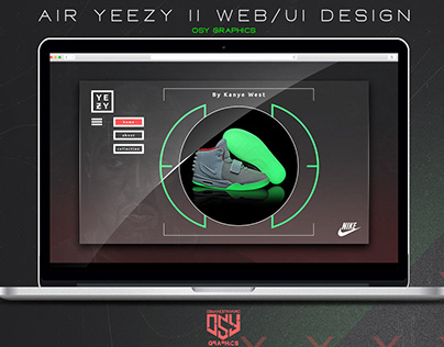 NIKE AIR YEEZY 2 WEB UI DESIGN (OSY GRAPHICS)