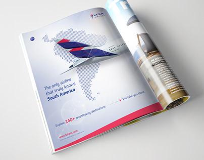 Airline Magazine Ad