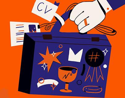 Resume.io illustrations