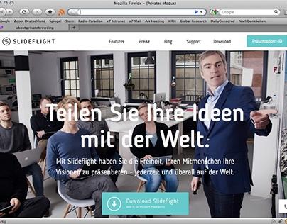 Slideflight website 2016.