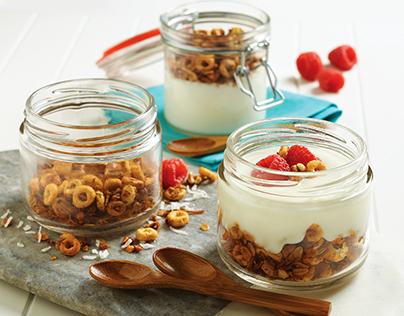 Coconut Cheerios Granola with Vanilla Yogurt