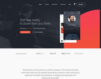 Smart App Landing Page with Wordpress Elementor