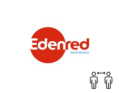 Social Distancing Message Convey Through Logo