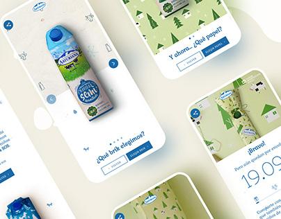 Milk website design UI UX