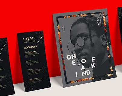 1OAK Nightclub - Brand Identity + Advertising