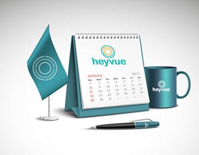 Identity for heyvue Brand for lenses