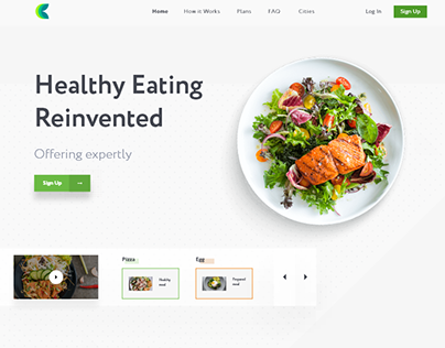 Healthy Food Delivery Nutrition Landing Page