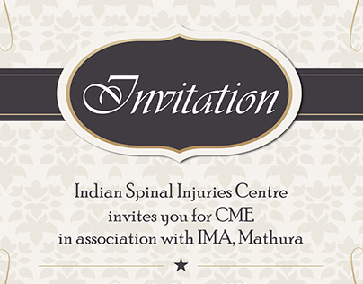 Invitation Card Design for Indian Spinal Injuries Centr