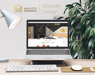 Baku City Residence Website Design