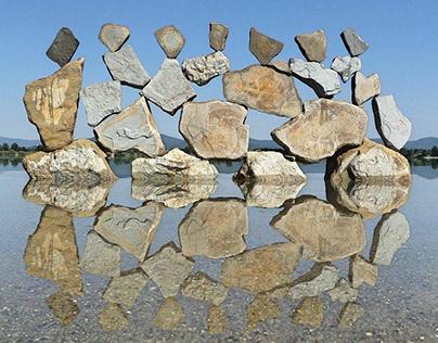 Stone balance art by tamas kanya