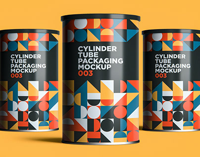 Cylinder Tube Packaging Mockup
