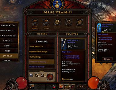 Diablo 3 Touchscreen Interface Design