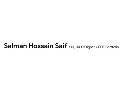 UX Portfolio - Salman Hossain Saif