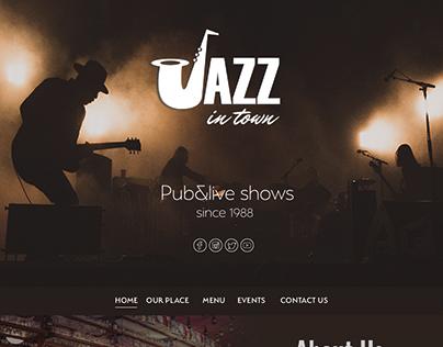 Jazz in town- Jazz pub website design